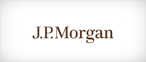 J. P. Morgan brown colored logo