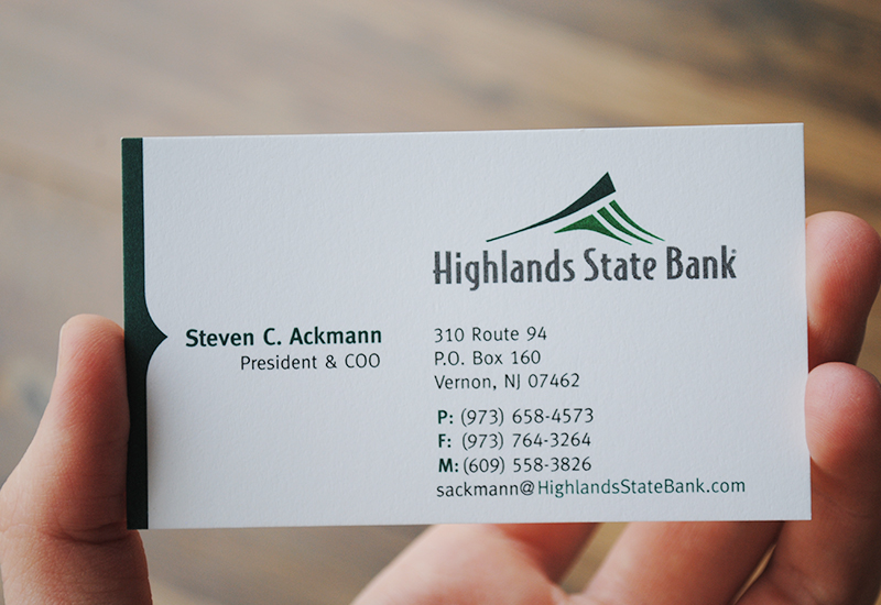 Highlands state bank logo and stationery design reheart Image collections